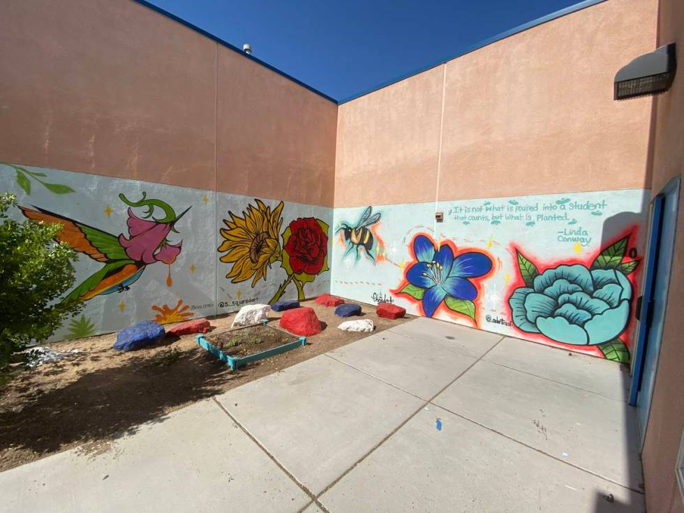 Graffiti Park Mural at J E Manch Elementary School. (Shawn Maguire)