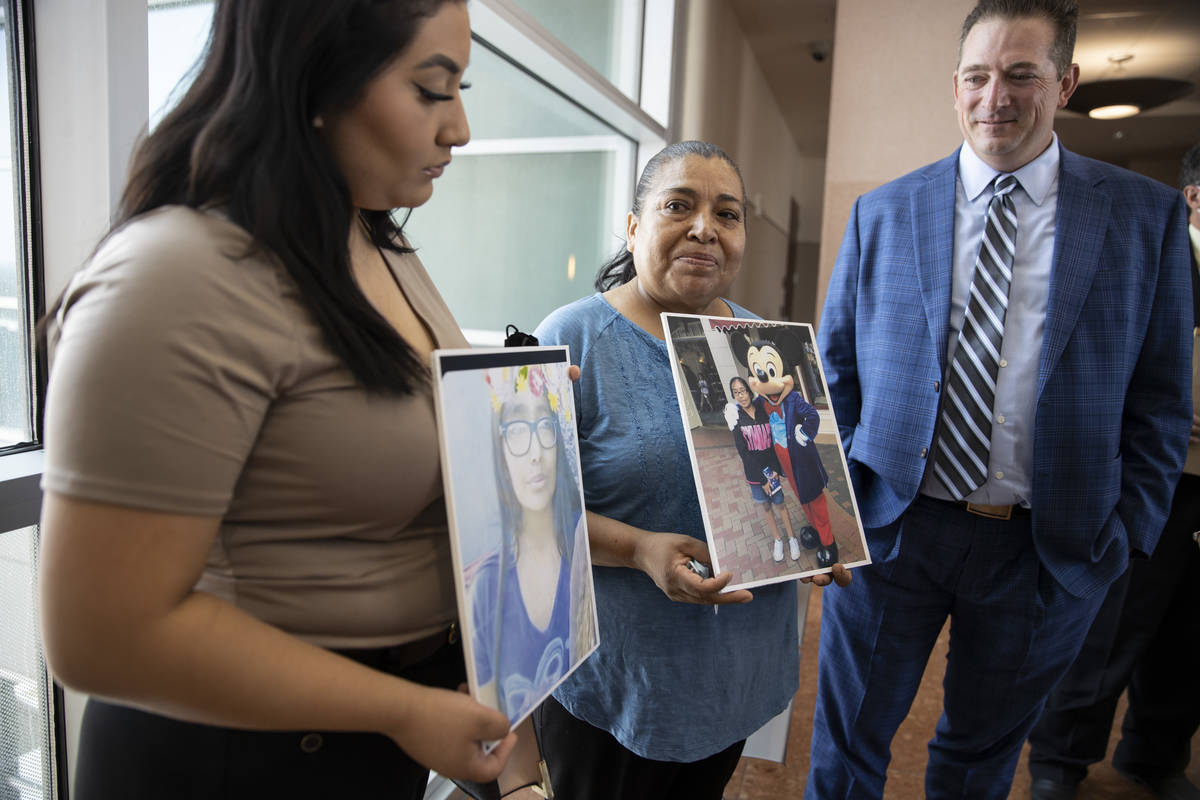 Encarnacion Espana, mother of 11-year-old Jazmin Espana, who was struck and killed by a Republi ...