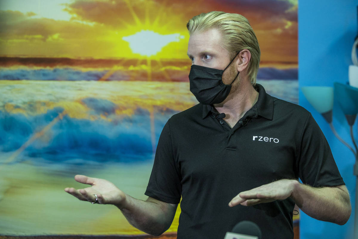 R-Zero CEO and co-founder Grant Morgan talks about the 372 Arc UV-C system and the Clark County ...