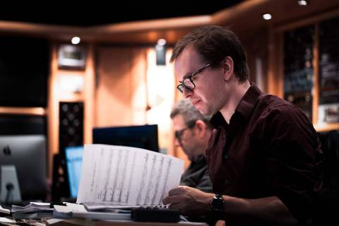 Ori and the Will of the Wisps scoring sessions. (Courtesy of Benjamin Ealovega)