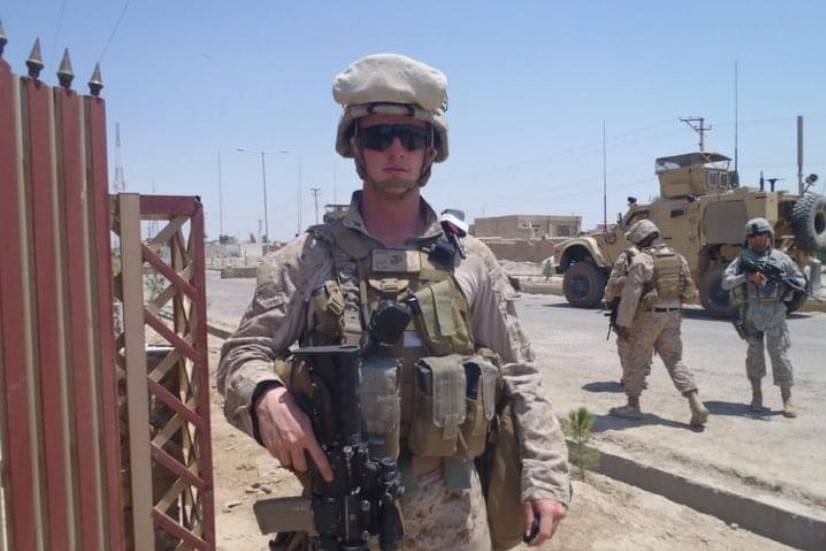 Marine Corps 1st Lt. Shamus Flynn poses for a picture in June 2011 in Afghanistan. Flynn, 36, i ...