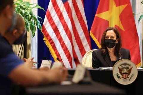 U.S. Vice President Kamala Harris meets with activists who work on LGBT, transgender, disabilit ...
