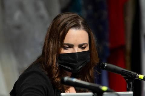 Clark County School Board member Katie Williams, seen in February 2021. (Ellen Schmidt/Las Vega ...
