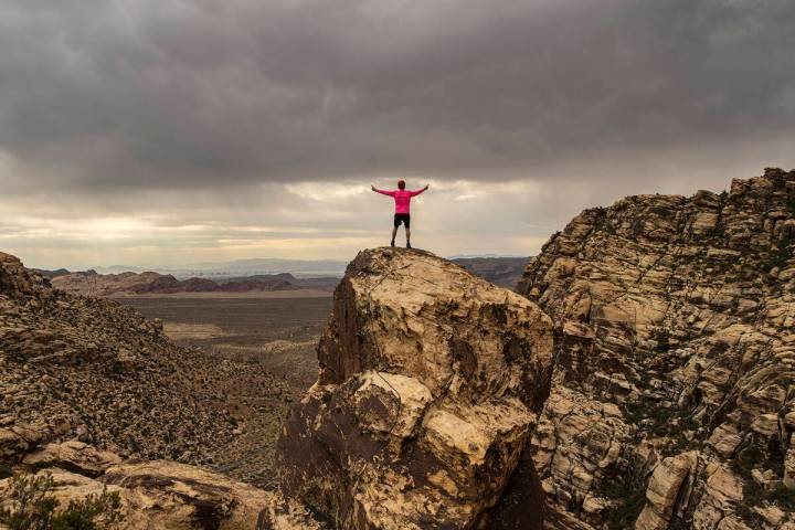 52 Peaks guide Bruce Small at Red Rock Canyon on Wednesday, June 23, 2021, in Las Vegas. (Benja ...