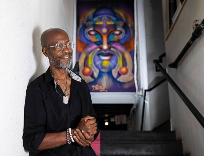 """Dray, a prolific artist and muralist, arrived in the Arts District in 1999. """"It was nothing l ..."""