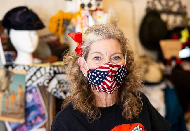 Becky Miller, owner of Main Street Mercantile and an Arts District landlord, touts the area's ...
