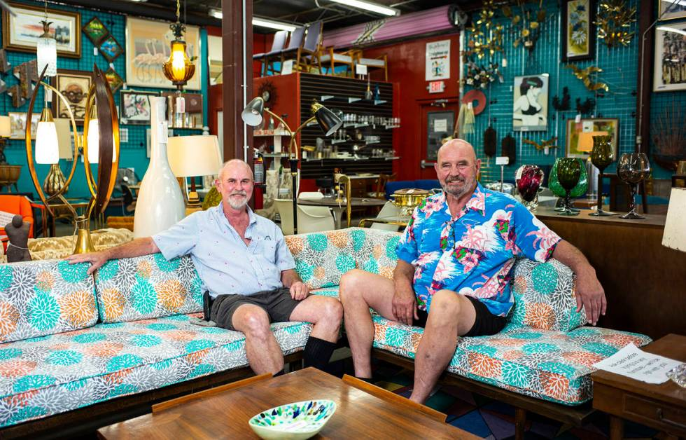 Bill Johnson and Marc Comstock opened their eclectic Main Street vintage store, Retro Vegas, du ...