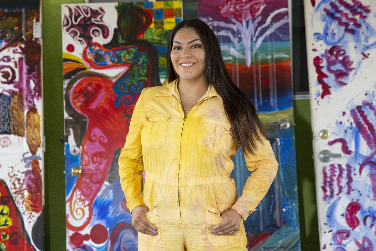 """Artist and activist Fawn Douglas, who curated """"Ah'-wah-nee,"""" an exhibition and symposium ..."""
