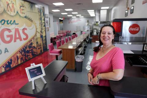 Vickie's Diner owner Vickie Kelesis, keeping it real at her new Commercial Center location. ...