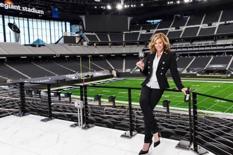 Sandra Taylor is the head sommelier at Allegiant Stadium. (Mona Shield Payne)