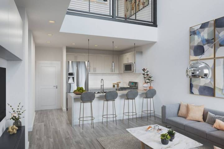 Edward Homes Nevada has reported that all 43 town homes at Thrive have been reserved. Construct ...
