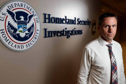Todd Rignel, Homeland Security Investigations supervisory special agent, at HSI offices in down ...