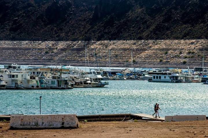 Hemenway Harbor at the Lake Mead National Recreation Area, Aug. 17, 2021, in Boulder City. (L.E ...