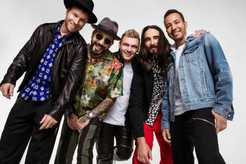 Backstreet Boys, from left, Brian Littrell, AJ McLean, Nick Carter, Kevin Littrell and Howie Do ...