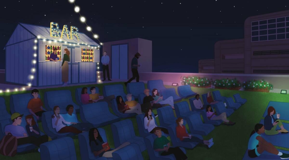 A rendering of Hidden Cinema Rooftop Garden. (Hidden Cinema)