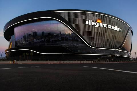 Allegiant Stadium (Benjamin Hager/Las Vegas Review-Journal) @benjaminhphoto