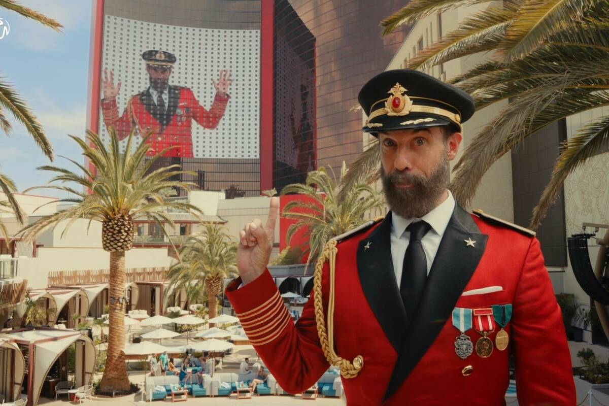 Hotels.com pitchman Captain Obvious is shown in a commercial featuring Resorts World Las Vegas. ...