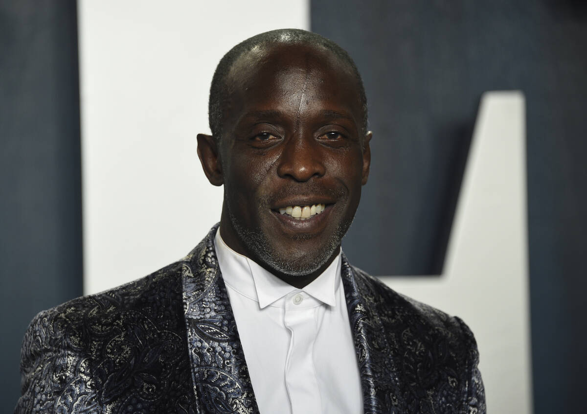 In this Sunday, Feb. 9, 2020, file photo, Michael K. Williams arrives at the Vanity Fair Oscar ...