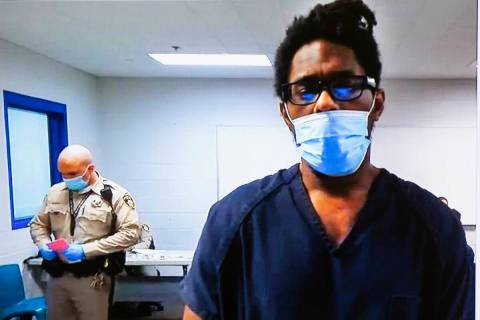 Jarrid Johnson, who in 2018 confessed to killing a homeless man and drinking his blood, appears ...