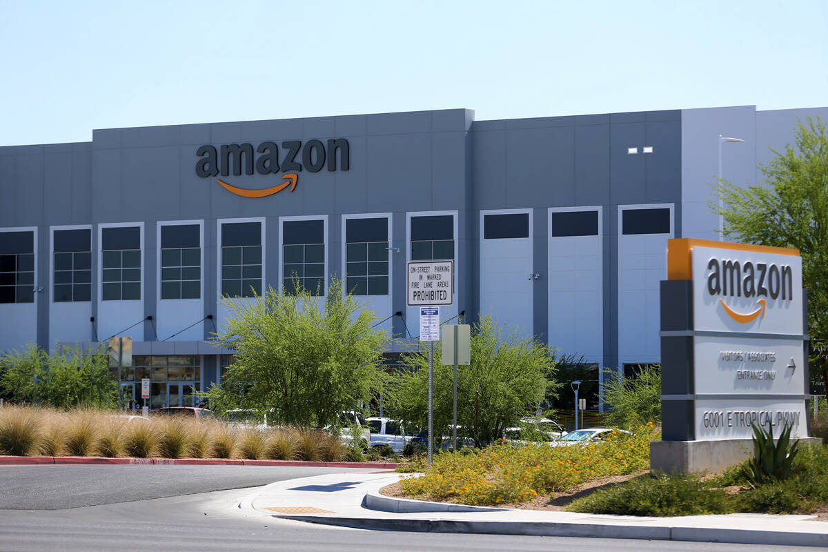The Amazon Fulfillment Center, 6001 E. Tropical Parkway, in North Las Vegas, Wednesday, June 17 ...