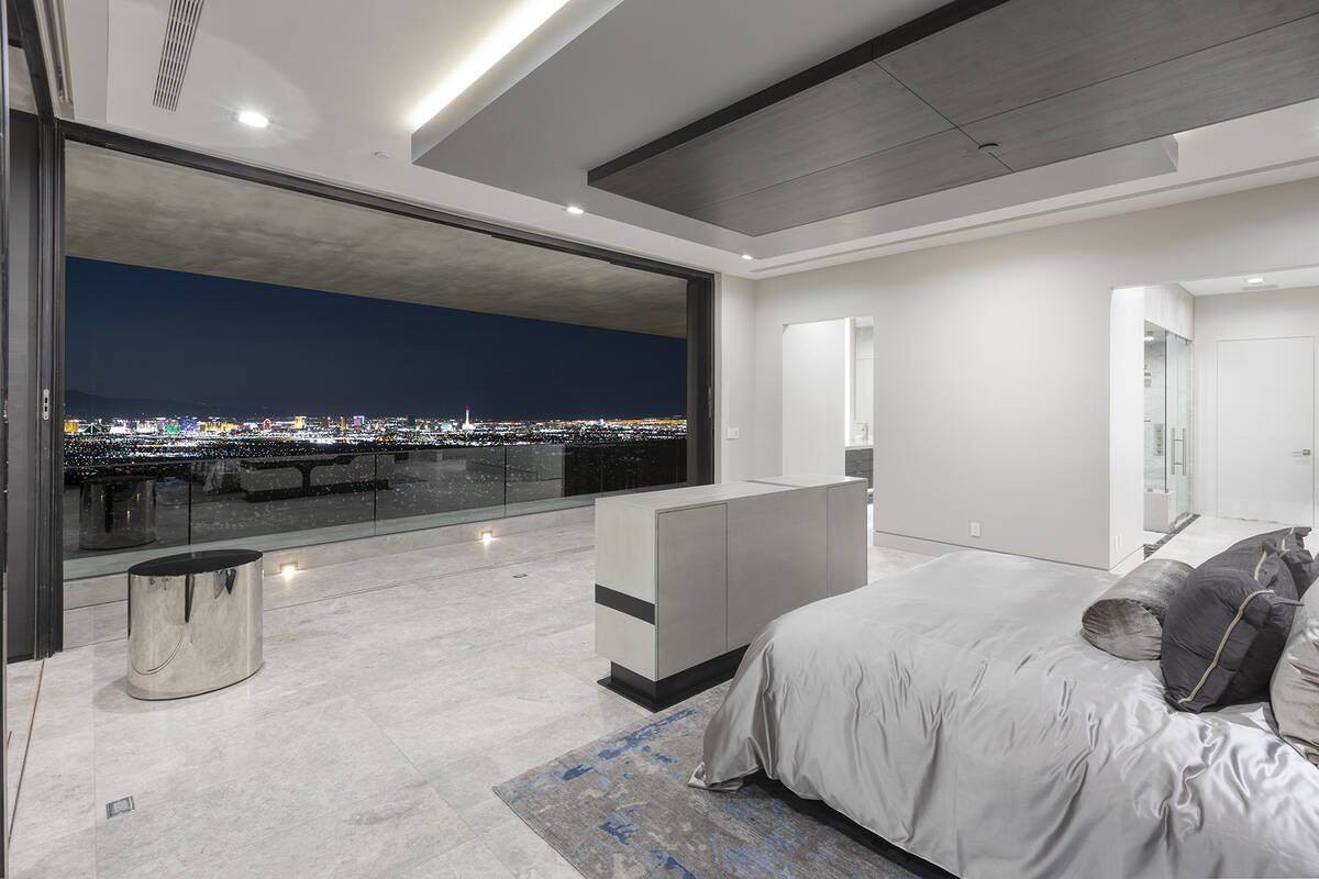 Kristen Routh-Silberman, Corcoran Global Living The master suite has sweeping views of the Las ...