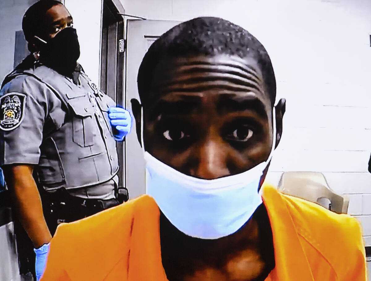 Tristan Tidwell, accused in three separate shooting deaths in North Las Vegas on Labor Day, app ...