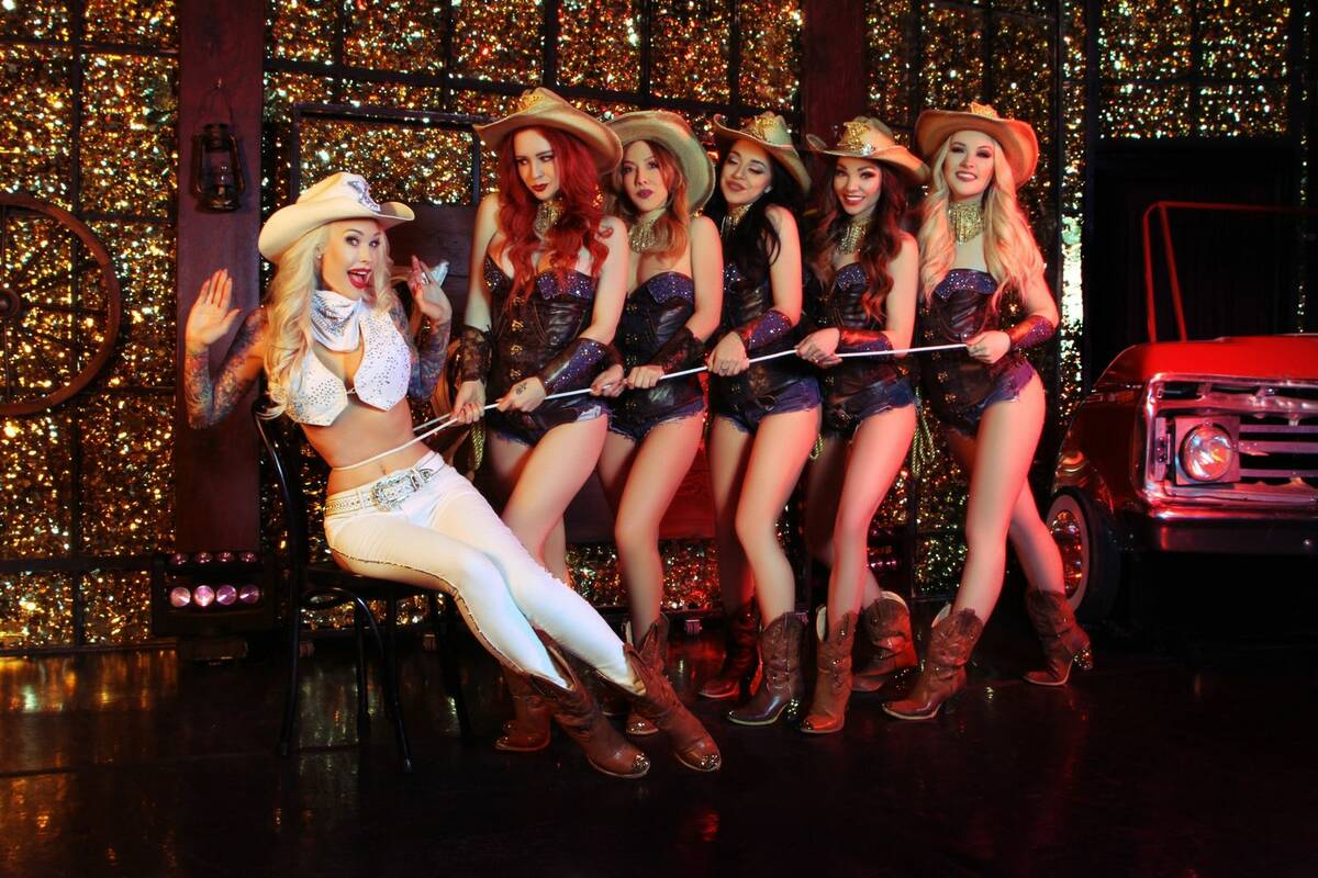 """Sabina Kelley is shown with the cast of """"X Country"""" at Harrah's Cabaret. (courtesy)"""