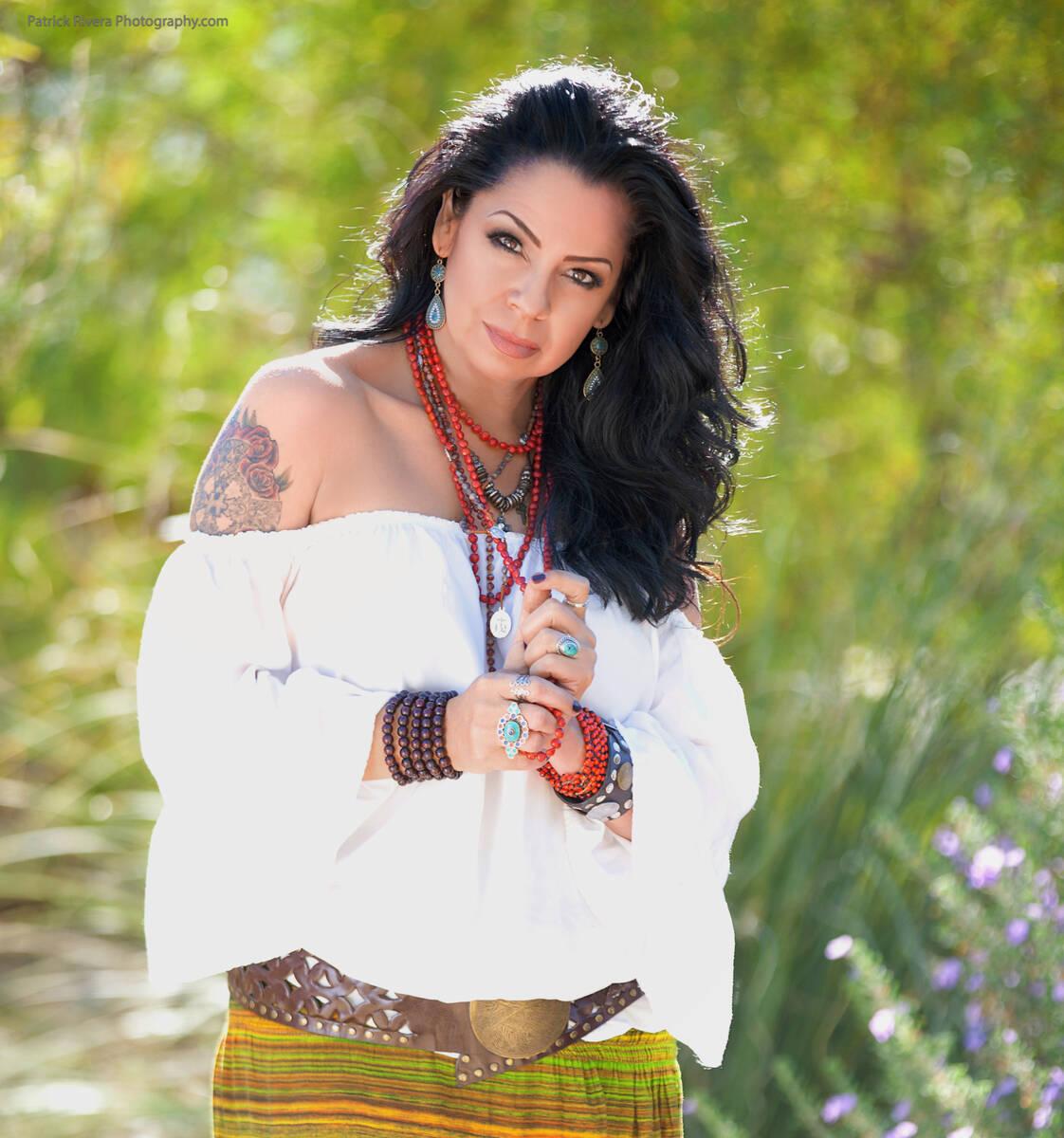 A promotional shot of New York-New York executive and longtime Vegas entertainer Stephanie Sanc ...