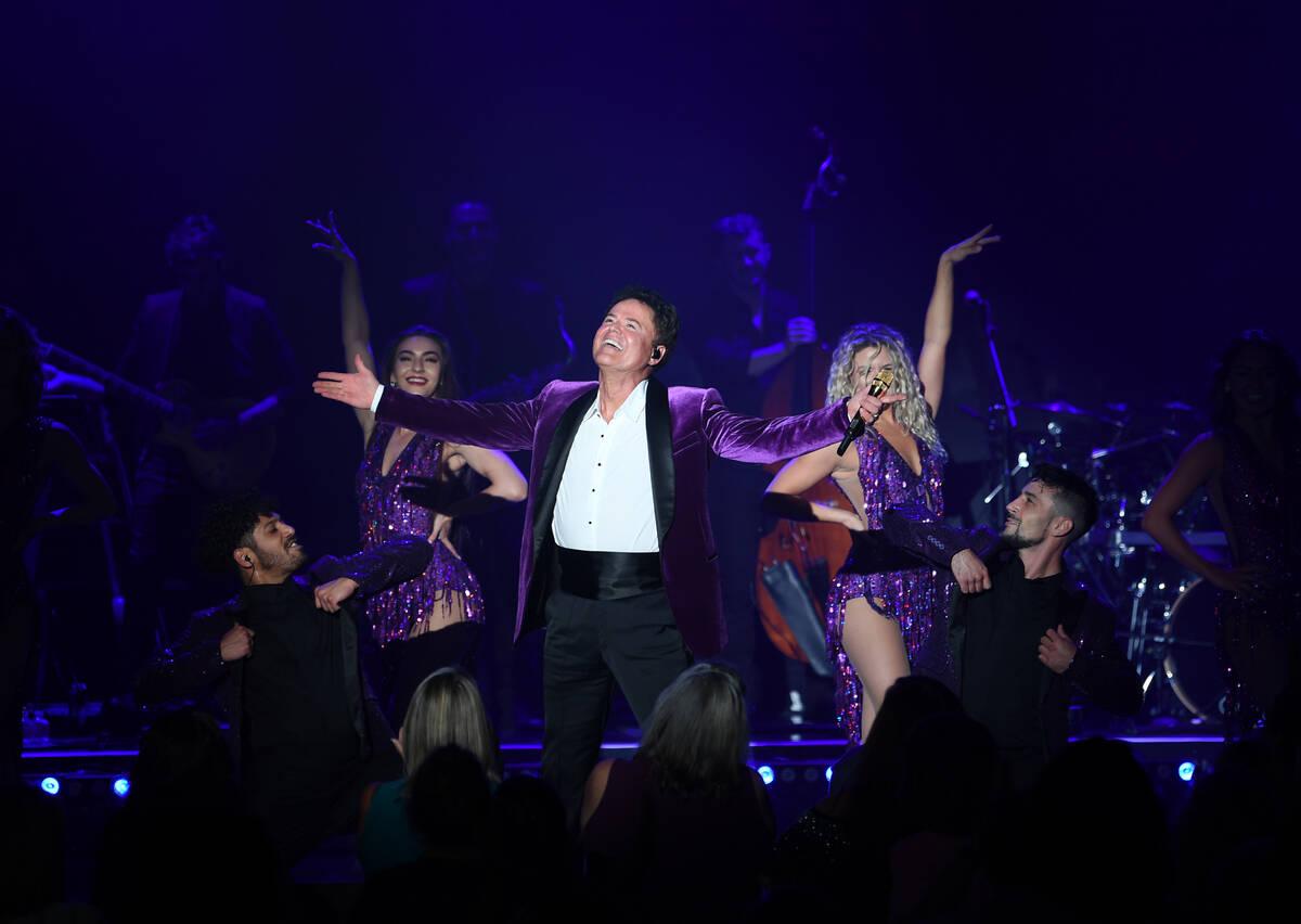 Donny Osmond performs at Harrah's on Aug. 31, 2021, in Las Vegas. (Denise Truscello)