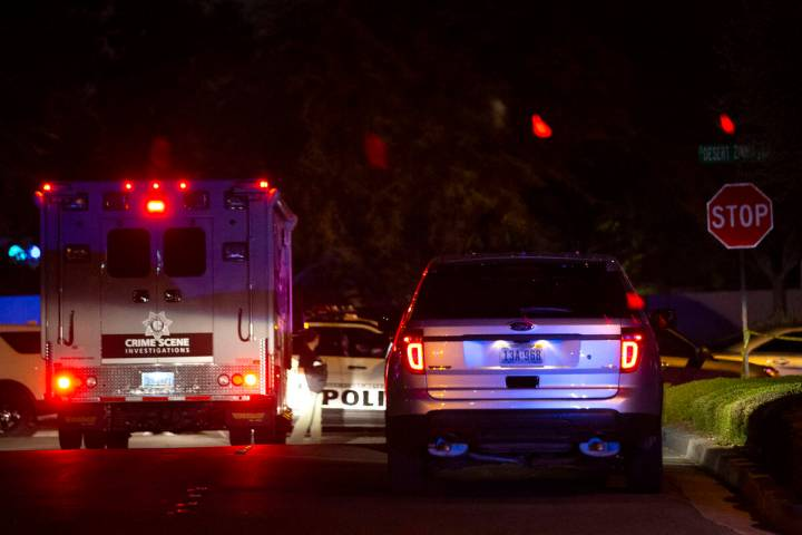 A crime scene unit enters Metropolitan police's investigation of a shooting where an officer fa ...