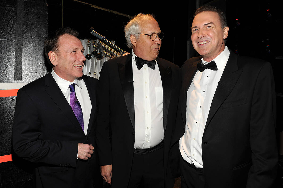 Colin Quinn, Chevy Chase, and Norm Macdonald attend Comedy Centrals 'The Comedy Awards 2012' at ...