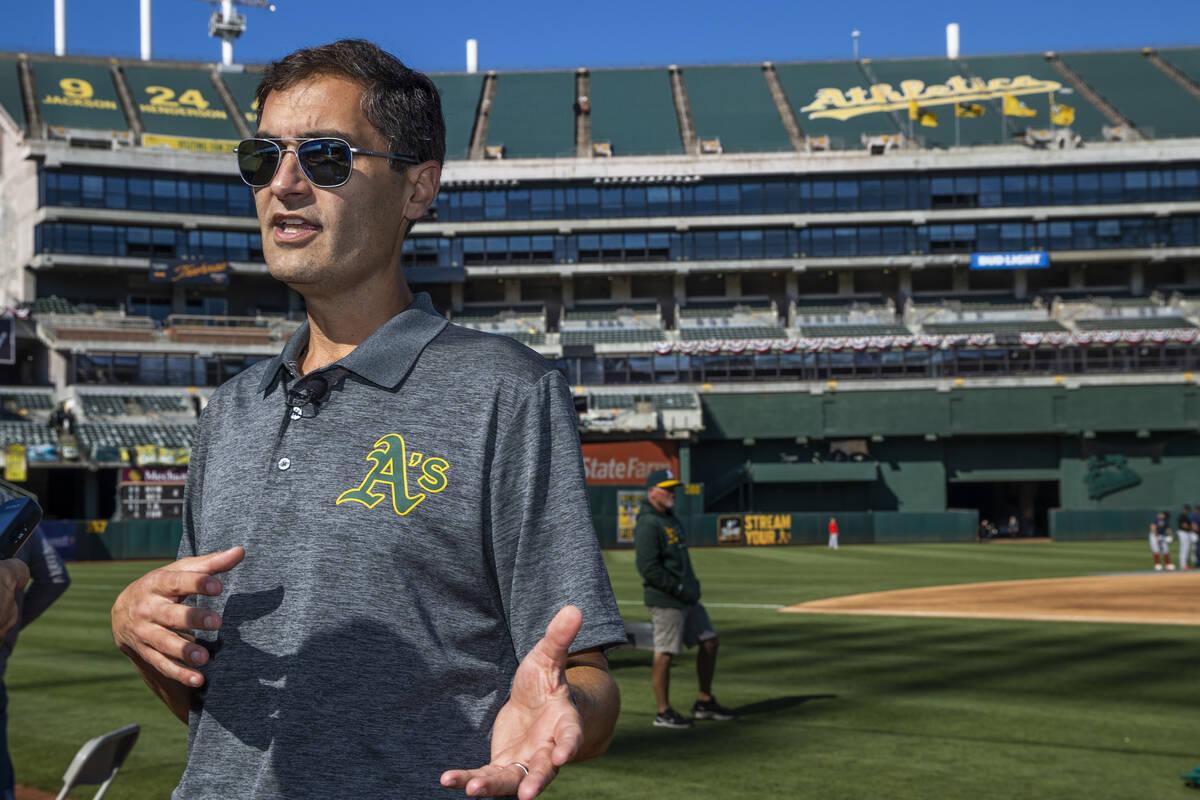 El presidente de los A's de Oakland, Dave Kaval, habla sobre el estado actual del equipo, la ub ...