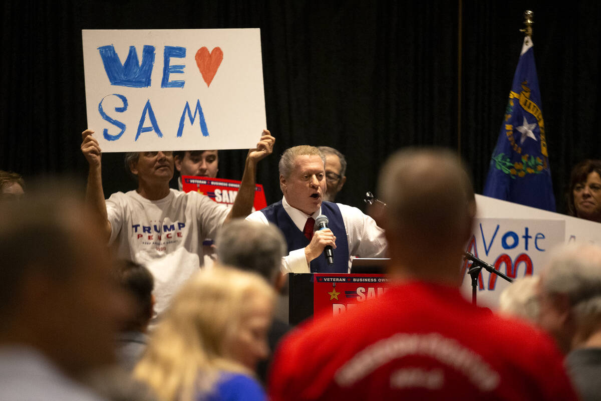 """Wayne Allyn Root, a conservative radio host, speaks during the """"Fight for Freedom"""" Ca ..."""