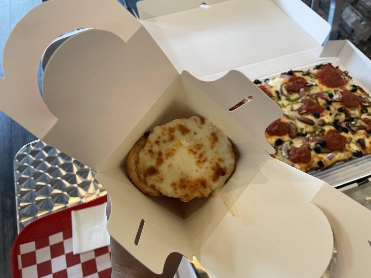 Twisted Sourdough Pizza specializes in pizza cones. (Janna Karel / Las Vegas Review-Journal)