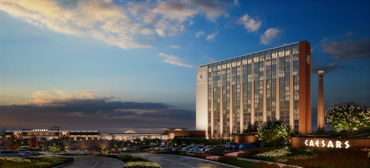 Official rendering for Caesars Virginia, which is slated to open in Danville, Va. in late 2023. ...