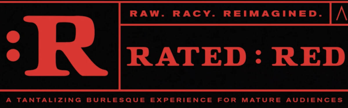 """The logo for """"Rated Red,"""" opening Oct. 1 at Area 15. (Area15)"""