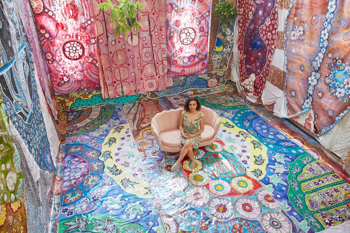 Cannabis-themed chapel by LA-based artist Laurie Chapiro and Weedmaps (Weedmaps)