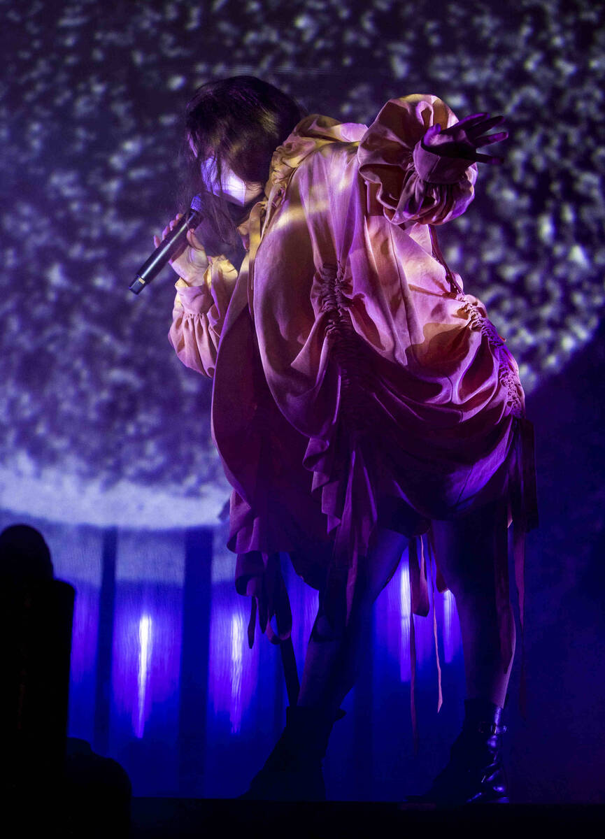 Megan James of Purity Ring performs on the Huntridge Stage during day one of Life is Beautiful ...