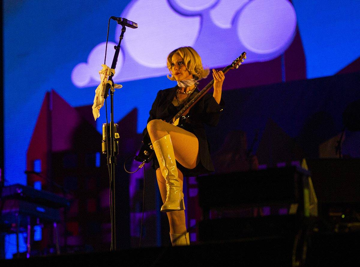 St. Vincent performs at the downtown stage during the final day of the Life is Beautiful festiv ...