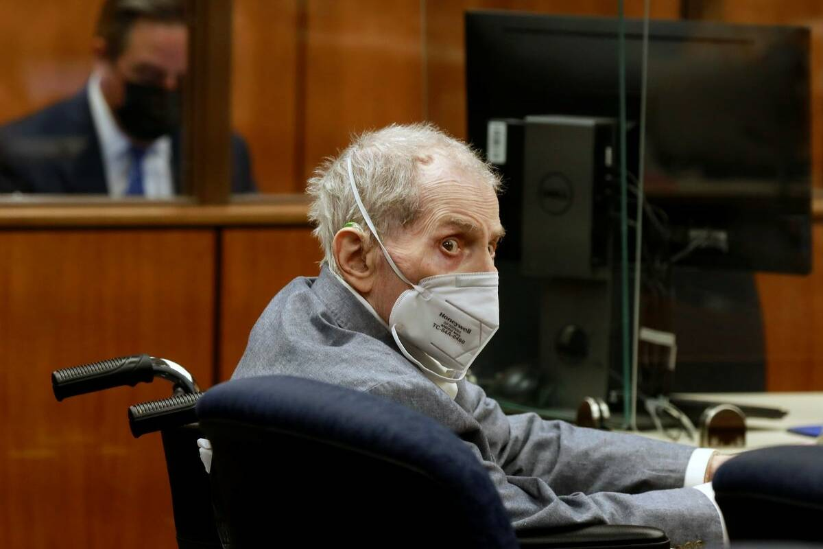 Robert Durst looks at jurors as he appears in a courtroom in Inglewood, Calif., in September 20 ...
