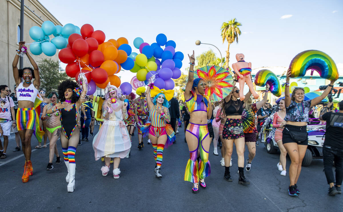 The House of Yes Gay Pride parade moves down South 7th Street during day two of Life is Beautif ...