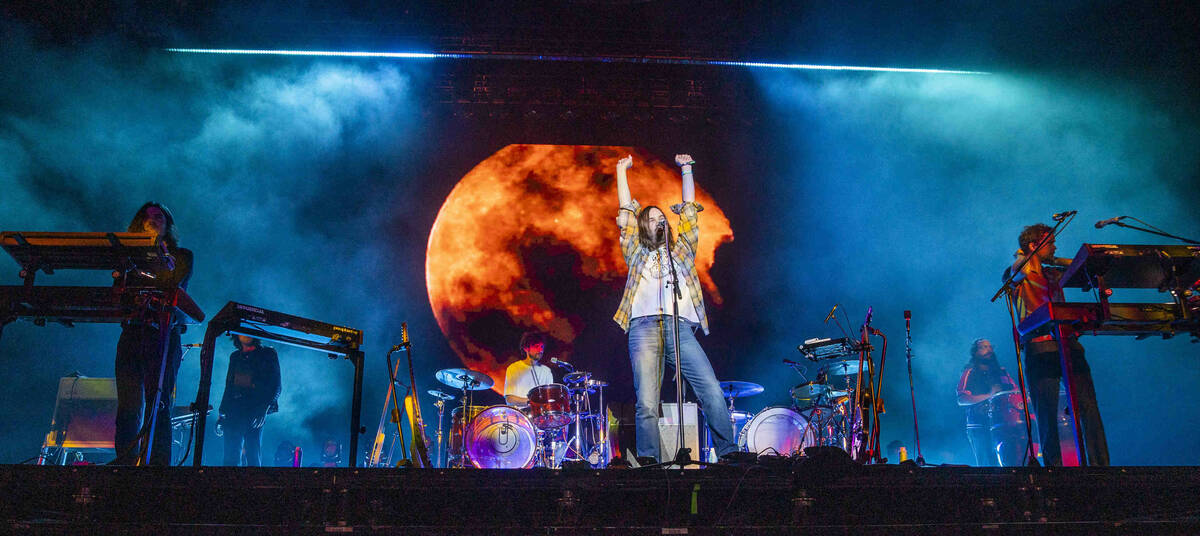 Tame Impala performs on the Downtown Stage during day one of Life is Beautiful on Friday, Sept. ...