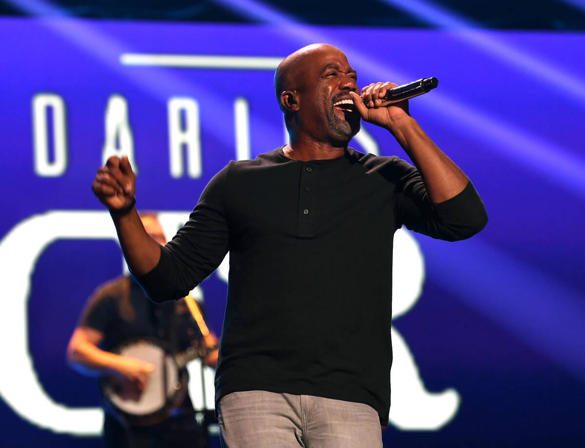 LAS VEGAS, NEVADA - SEPTEMBER 17: Darius Rucker performs onstage during the 2021 iHeartRadio Mu ...