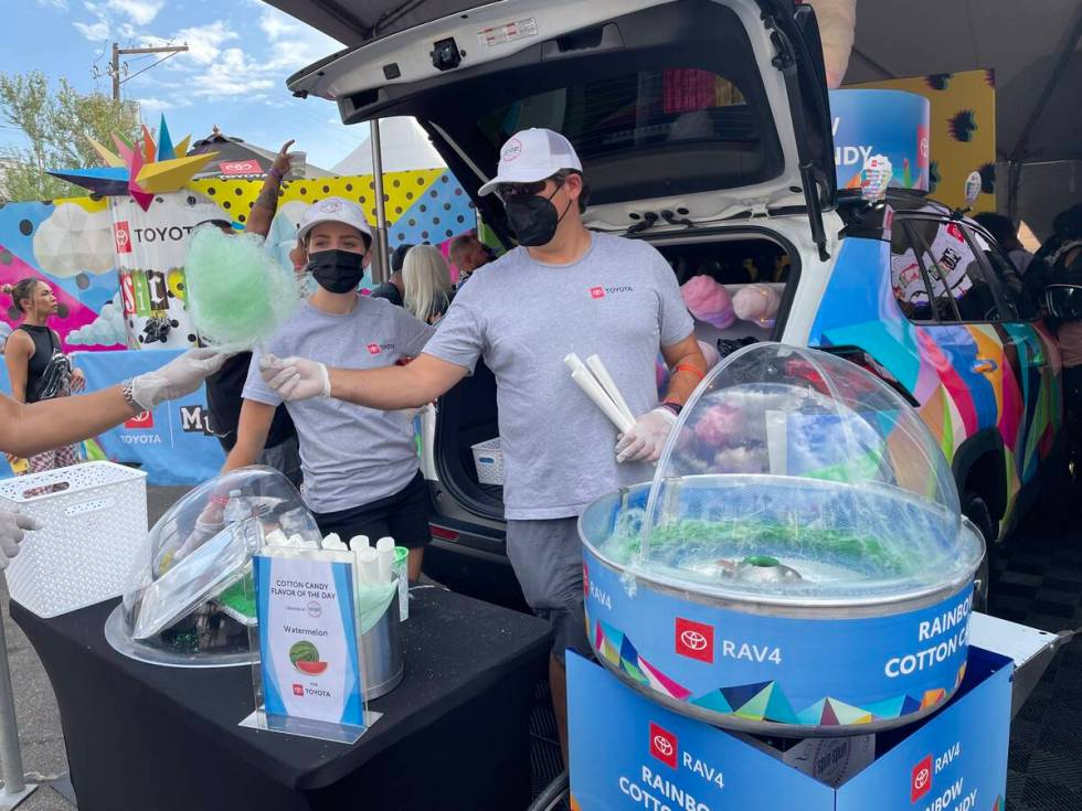 Free cotton candy at Toyota Music Den (Janna Karel/Las Vegas Review-Journal)