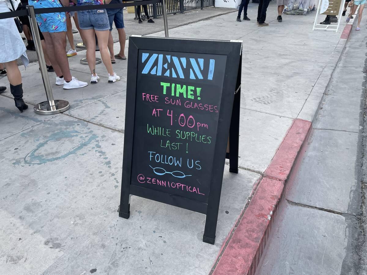 Zenni Eyewear Lounge (Janna Karel/Las Vegas Review-Journal)