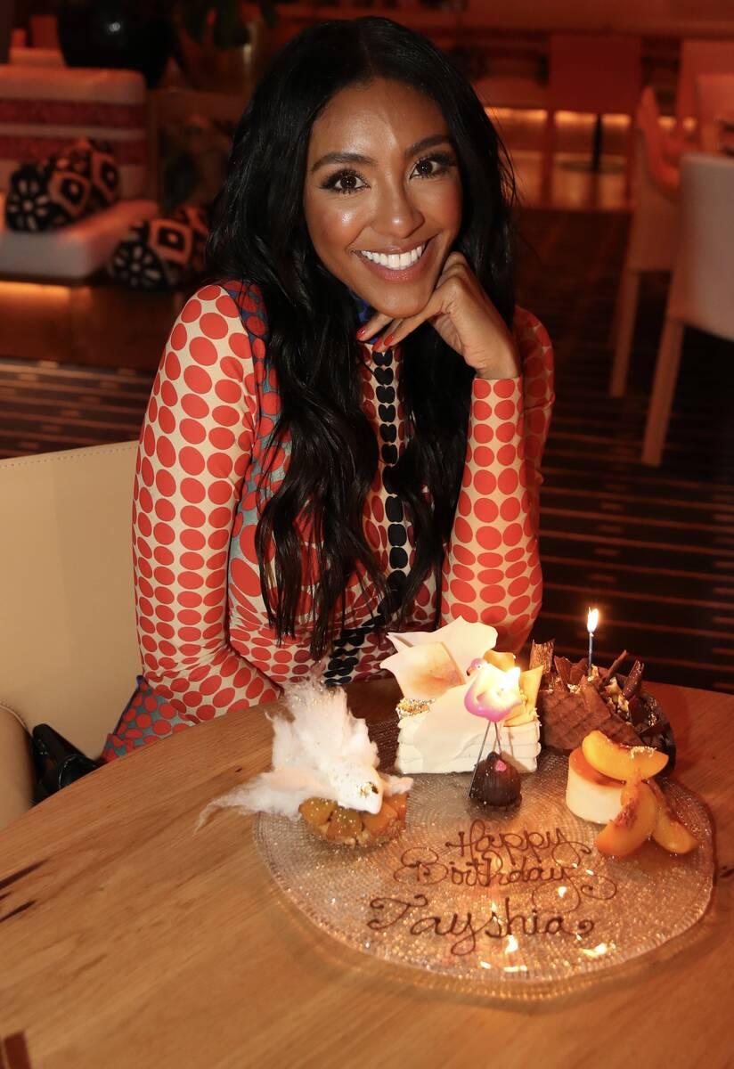 "Co-host of ABC's ""The Bachelorette,"" Tayshia Adams, celebrates a belated birthday at Casa Playa ..."