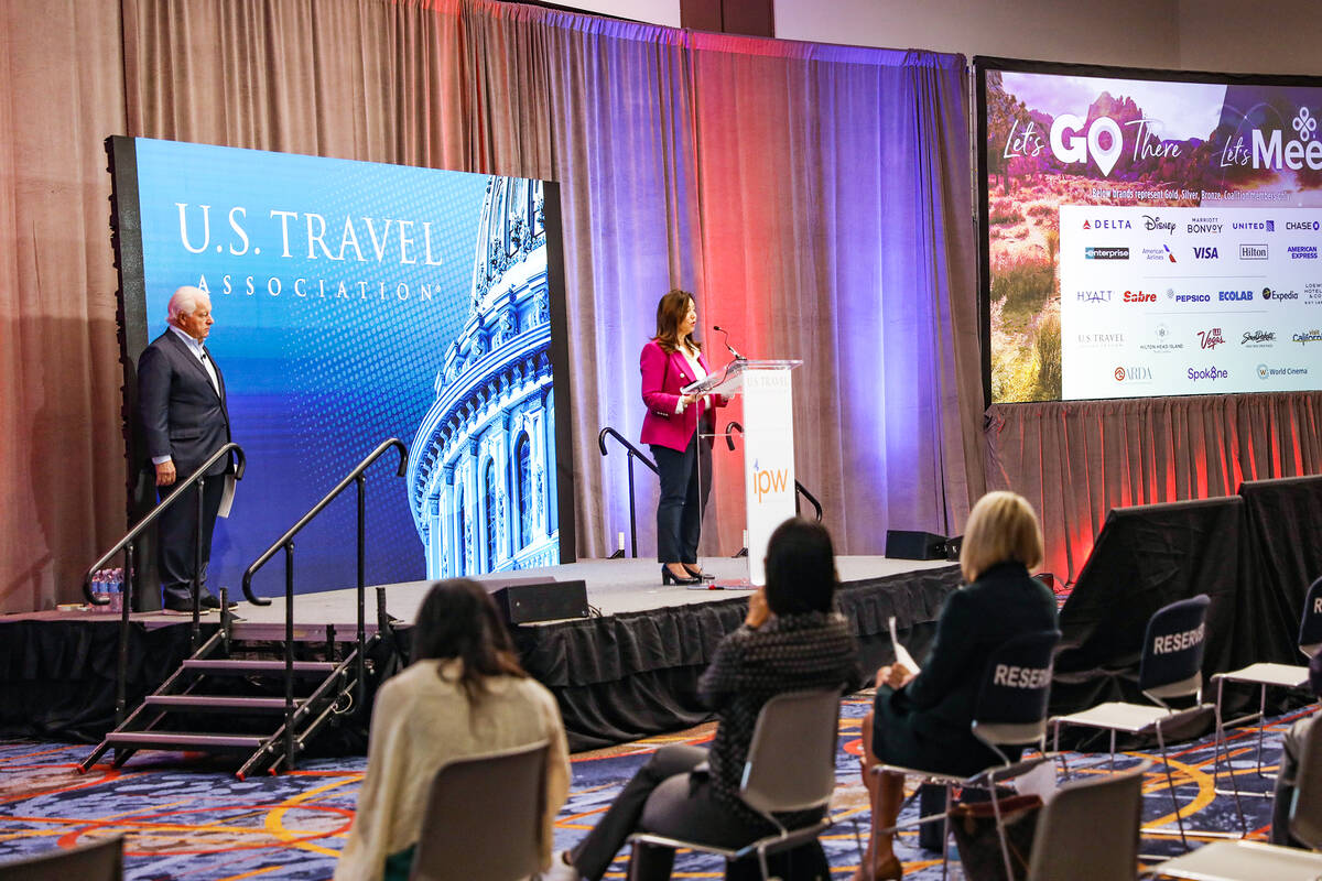 Christine Duffy, national chair for the U.S. Travel Association and president of the Carnival C ...
