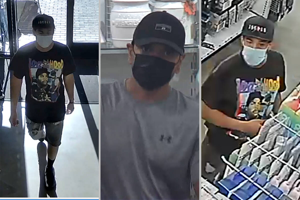 Las Vegas police are asking for help to identify a man accused of exposing himself to women ins ...