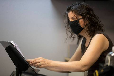 """Pianist Deborah Gordillo during an opera rehearsal of """"The Ghosts of Gatsby"""" at the S ..."""