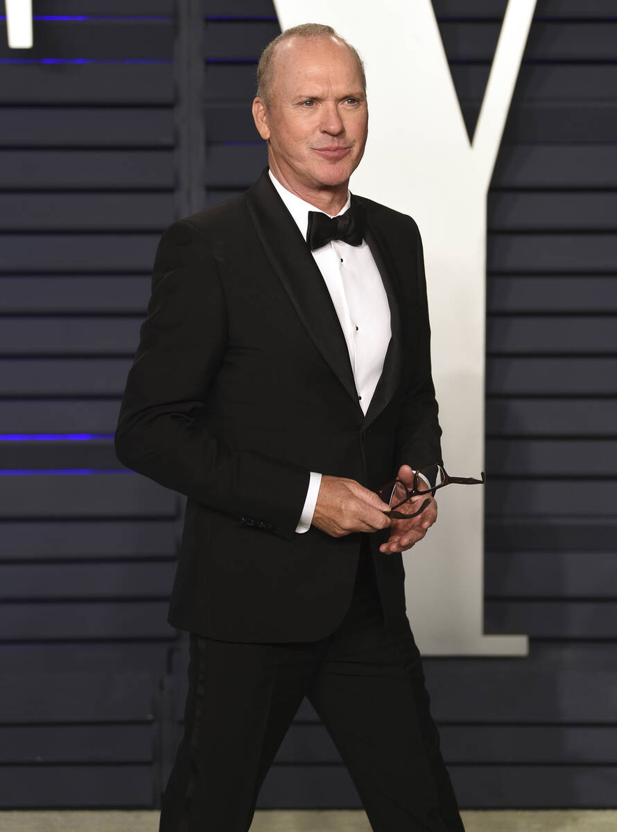 Michael Keaton arrives at the Vanity Fair Oscar Party on Feb. 24, 2019, in Beverly Hills, Calif ...